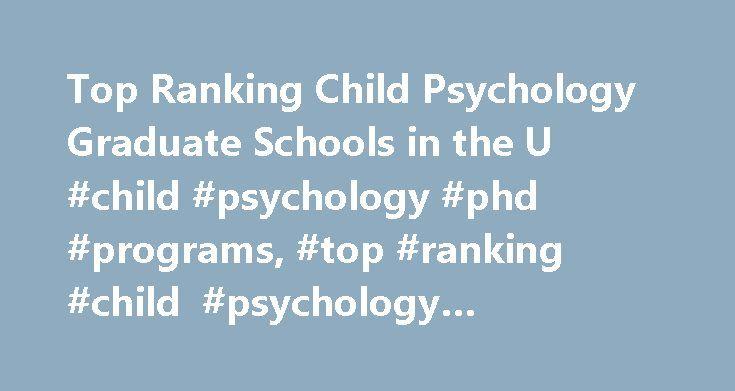 Phd psychology program rankings