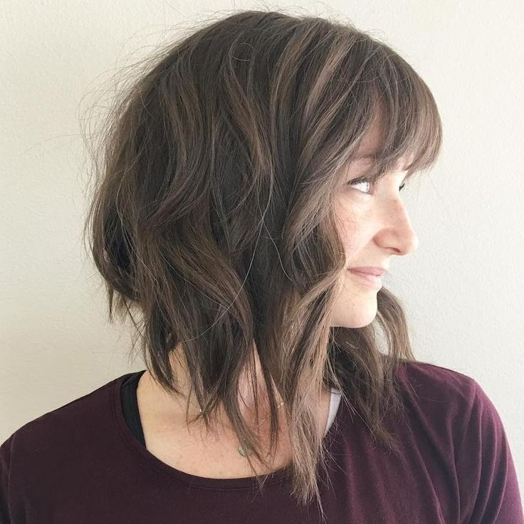 Picture medium angled hair teen