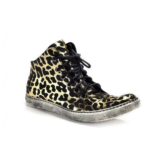 Športové pánske topánky čierno zlatej farby COMODO E SANO - fashionday.eu