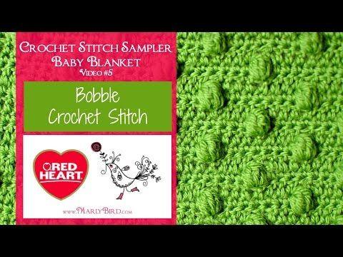 Bobble Stitch for the Crochet Stitch Sampler Baby Blanket Crochet Along | Red Heart