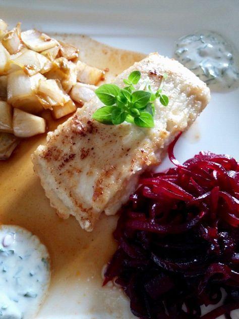 #Blog #essen #food #kulinarisch #Essen #Lifestyle #recipe #Rezept #Rezepte #joesrestandfood #Trend #Trends #trendy #top #Hype #hip #Glamour #foodporn #Gourmet #tagsforlikes #tflers #bestoftheday #photooftheday #fish #fisch #steinbeißer  An diesem Tag gibt es wieder ein Rezept zum ausprobieren. Heute gibt es Steinbeißer mit Rote Bete Spaghetti.