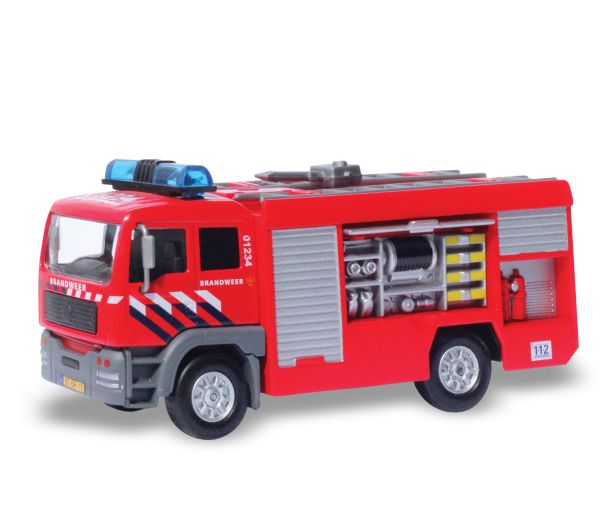 Brandweerwagen met licht en geluid - Kidsglobe Traffic - Bentoys.nl - https://www.bentoys.nl/nl/speelgoed/merken/kidsglobe/traffic/594-brandweerwagen-met-brandslang.html #speelgoed #brandweerwagen #bentoys