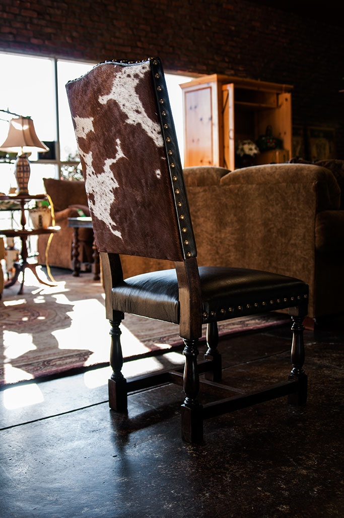 Cowhide Chairs | Leather dining room chairs, Rustic dining ...