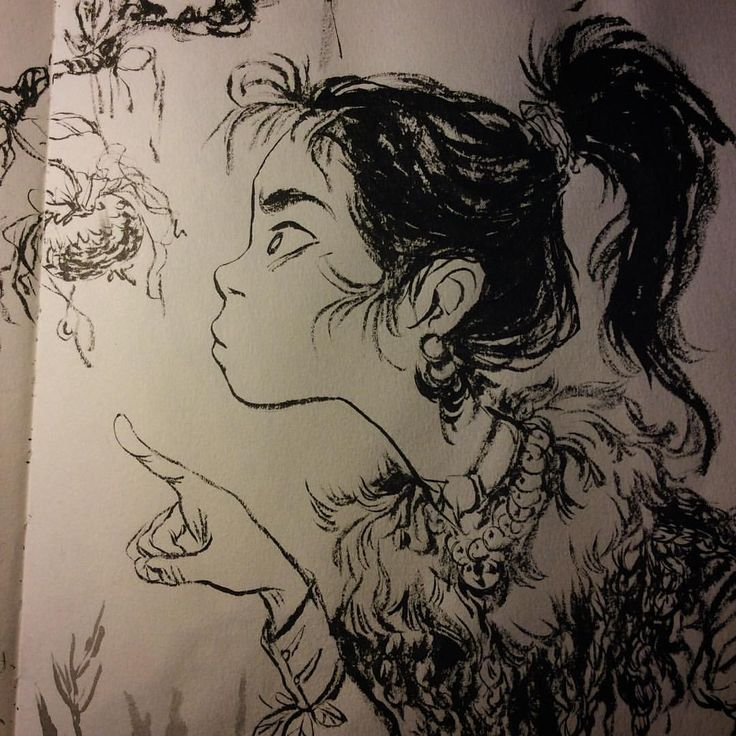 Sketch to finish up later! #sketch #illustration #chineseink #characterdesign