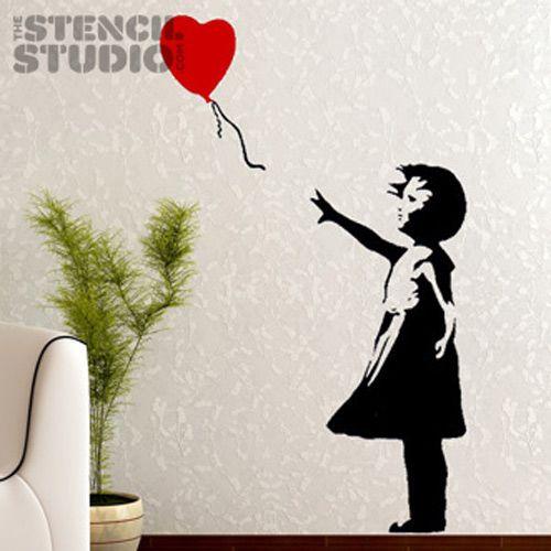 Buy A Banksy Balloon Girl Stencil Reno Ideas Wall Art