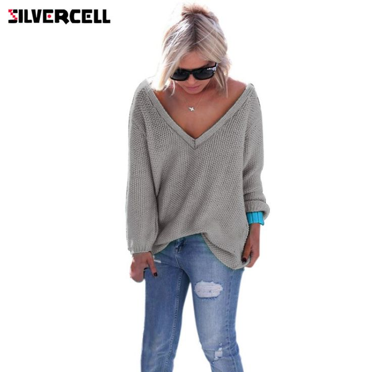 Read this to change how you Discount 25% Sale Price US $9.14 SILVERCELL Women Deep V Neck Loose Casual Knit Autumn Sweater Pullover Long Sleeve Tops sueter mujer 6 Colors #pullovers_sweaters