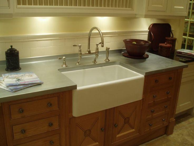 Zinc Countertop With Farm Sink Cutout