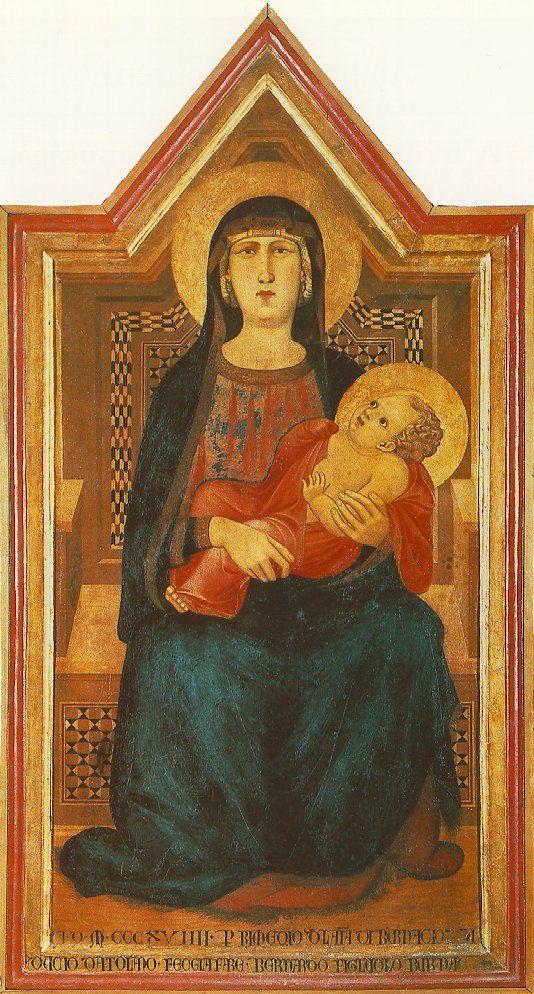 Ambrogio Lorenzetti, Madonna con bambino di Vico l'abate, c.1318