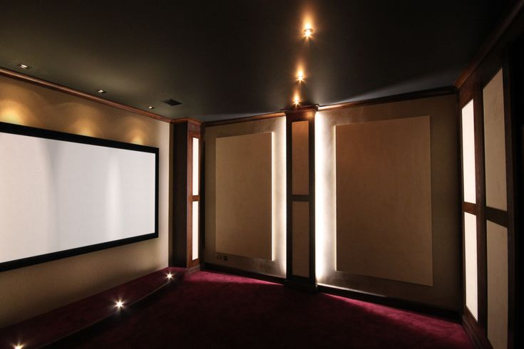 Home cinema room. Rear storage houses the AV equipment and projector.