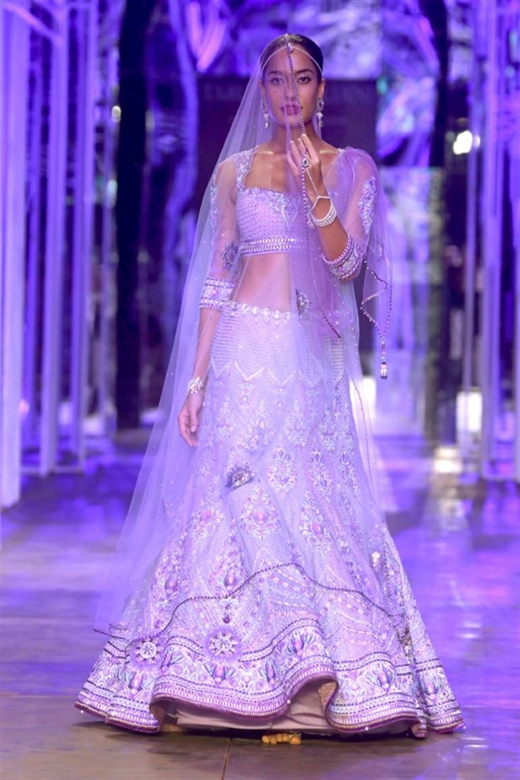 Tarun Tahilian Bridal Collection - Radiant Orchid Pantone #coloroftheyear