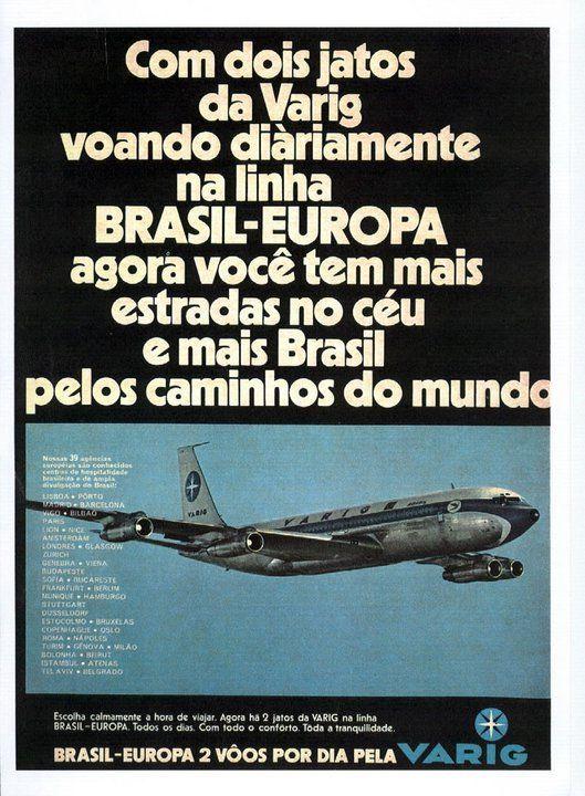 Vintage Varig Airlines Advert