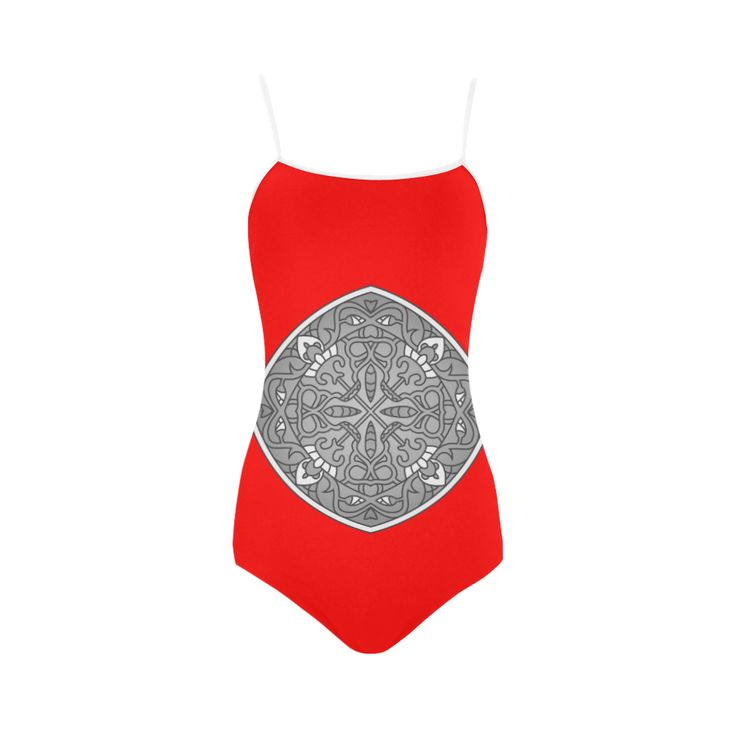 New arrival in shop : Luxury bikini with Mandala Art. Red and greyscale edition. Christmas LINE 2016 Strap Swimsuit.