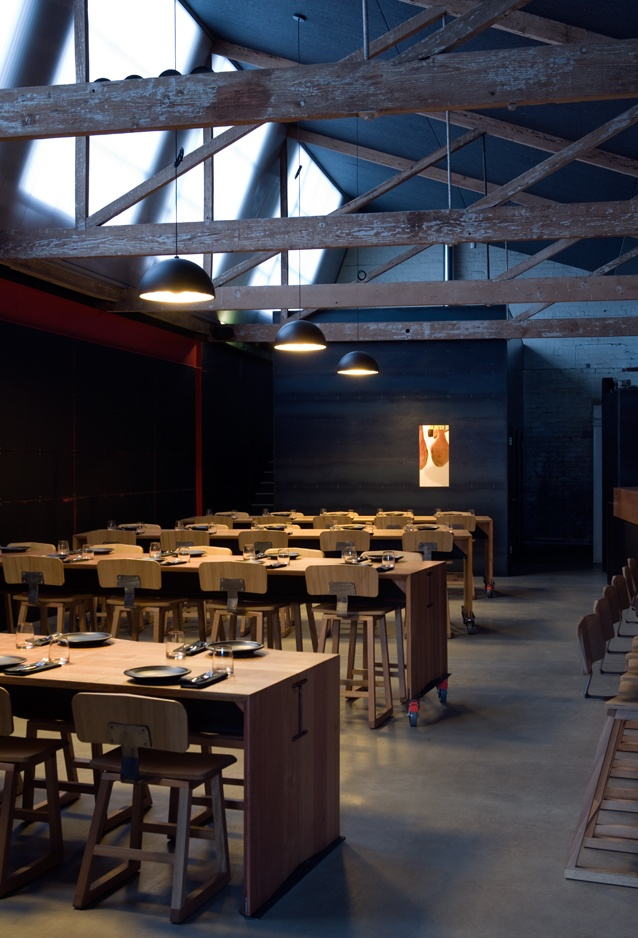 Garagistes - 103 Murray St, Hobart. Garagistes has earned its stripes by serving local produce in a slick and sexy operation. The dimly lit kitchen and oversized bar create minimal warehouse space that immediately puts one at ease.