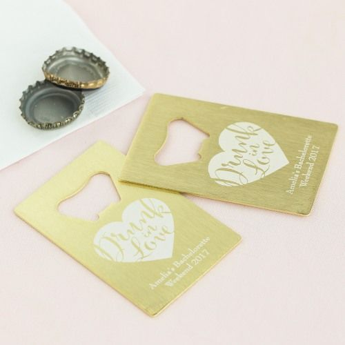 Personalized Credit Card Bottle Opener Favors by Beau-coup