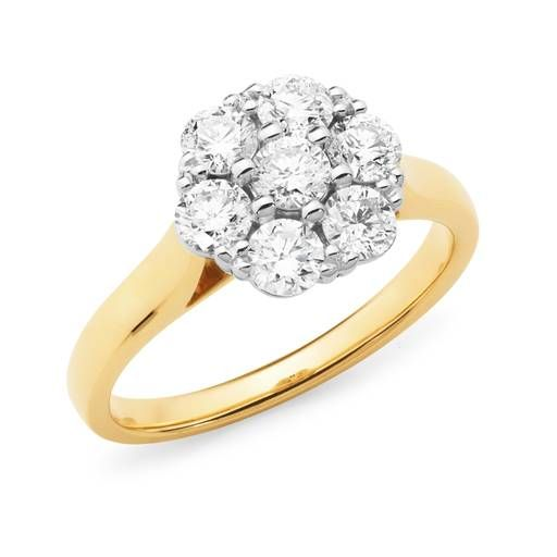 Beautiful flower diamond ring with 1.00ct of diamonds set in 18ct Yellow Gold. Yes Please!