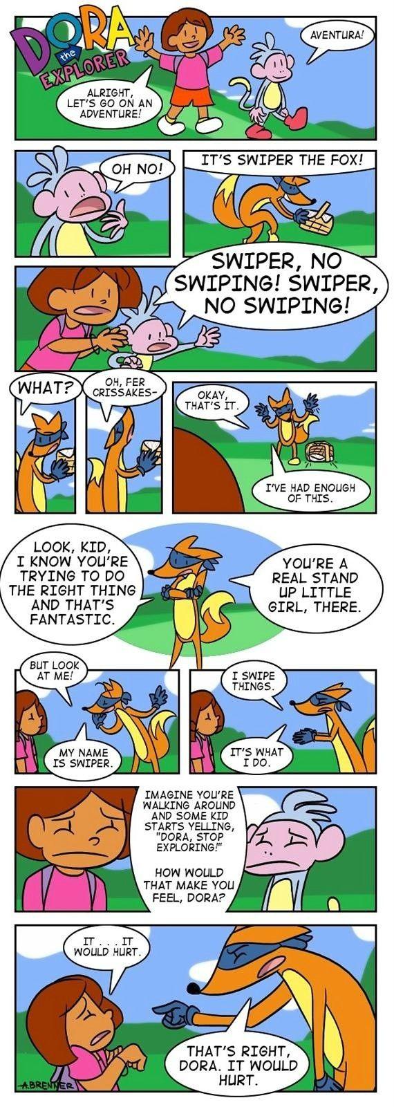 Swiper has had enough. (Comic) - Imgur