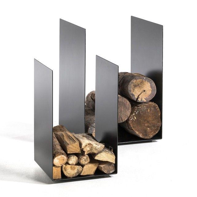 Porte b ches t lio am pm noir la redoute mobile meuble tv wood storage fireplace - Ampm meuble tv ...