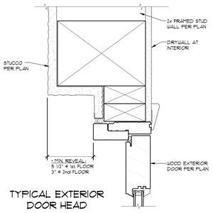 Exterior door head detail 2012 08 private residence - How to make a door jamb for an exterior door ...