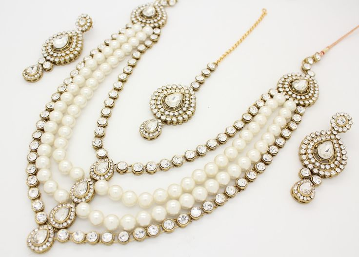 A personal favourite from my Etsy shop https://www.etsy.com/listing/232624037/beautfiul-handcrafted-pearl-kundan-stone