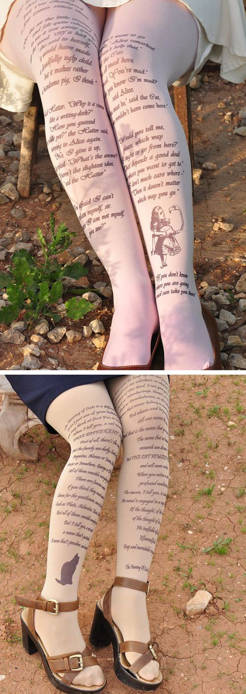 Fanciful Tights Celebrate the Beauty and Wonder of Our Favorite Literary Works