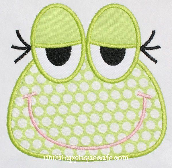 Frog Face Applique Design