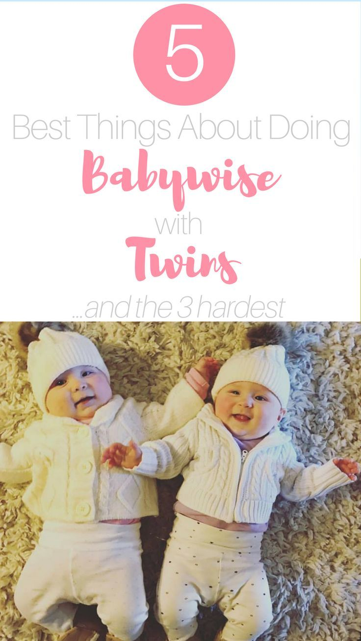 Following Babywise with twins is a lot of work. Read on for one twin mom's perspective on the 5 best things about doing babywise with twins... and the 3 hardest.