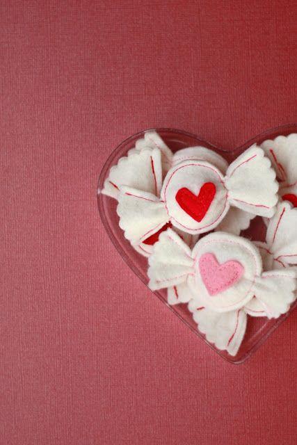 Valentine's Day felt candy