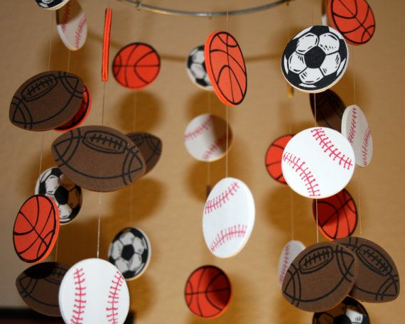 Play Ball Sports Mobile  8 Ring  Made to Order by artCboutique, $45.00