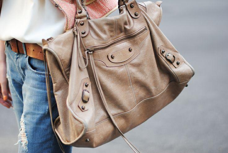 Balenciaga bag with denim