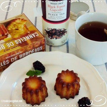 トレジョのカヌレとブラックフォレストフレーバー ティ| Trader Joe's Black Forest Tea $3.99  | Cannelés de Bordeaux $3.99 | #TraderJoes #Cannelés #カヌレ #BlackForest #Tea  #トレジョ #ブラックフォレストケーキ #ティ #紅茶 #トレーダージョーズ