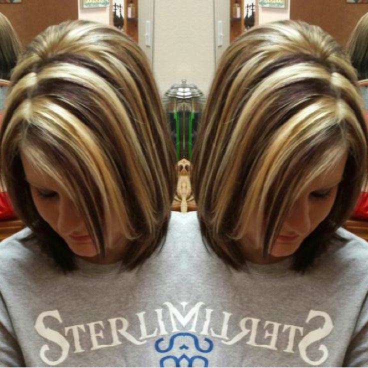 Chunky highlights. Blonde and Brown