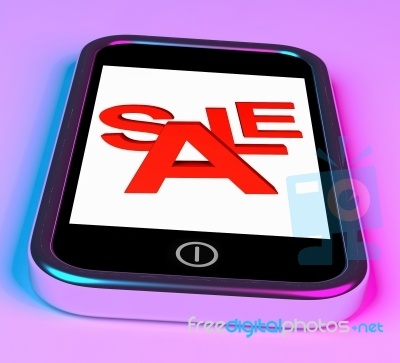 Sale Word On Mobile Screen love this