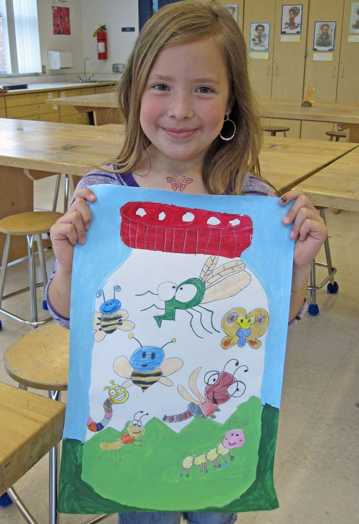 One of my favorite 2nd grade artists.  She is amazing :)