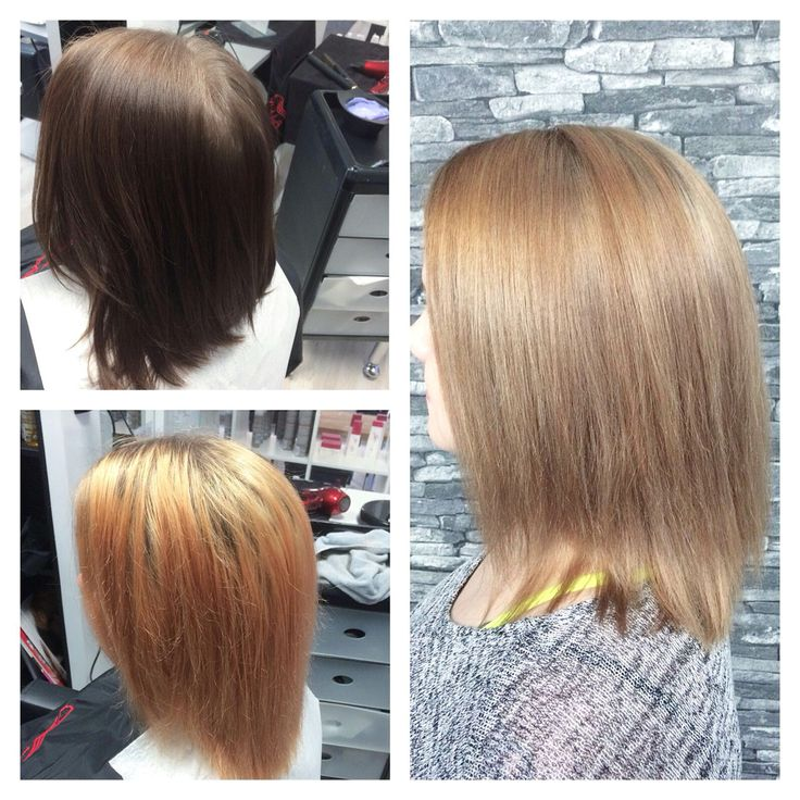 From old to new. Total change. Wella colors with olaplex.