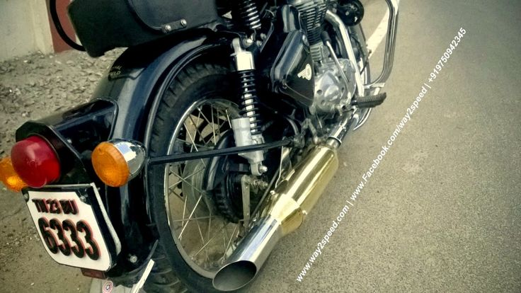 Way2speed Royal Enfield Rifle Exhaust   Royal Enfield Brass Accessories   Royal Enfield brass silencer   Royal Enfield silencer   Royal Enfield exhaust, Royal Enfield muffler    way2speed performance
