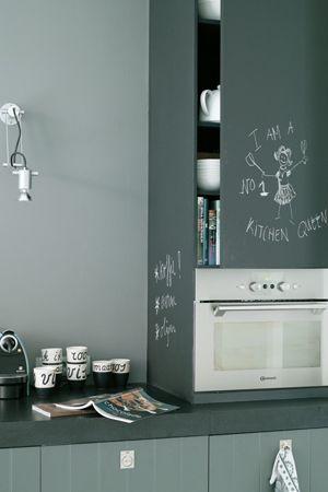 17 beste idee n over keuken schoolbord muren op pinterest krijtbord muren keuken idee n en - Balken grijs geschilderd ...