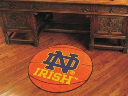 Notre Dame Fighting Irish 27 inch Round Basketball Mat (ND)
