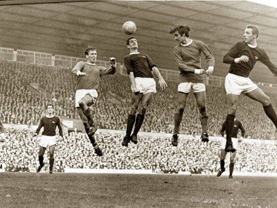 Manchester United vs. Arsenal, Football Match at Old Trafford, October 1967 Photographic Print at AllPosters.com