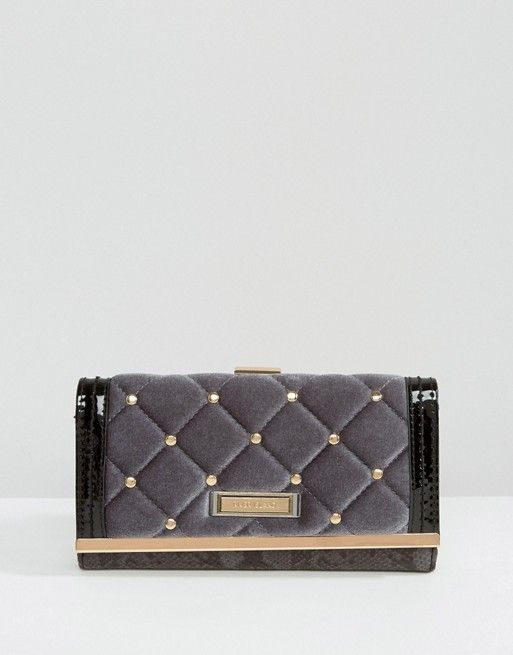 River Island   River Island Velvet Quilted Purse