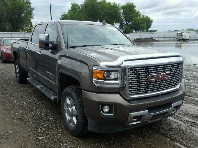 Salvage 2015 Gmc Sierra Denali With Images Work Truck Chevy