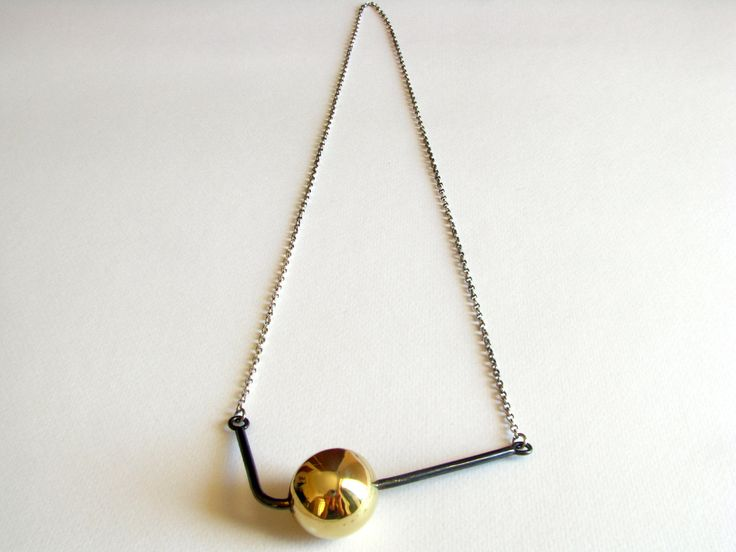 Brass Ball Necklace