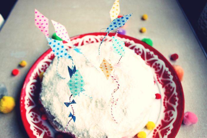 mini cerf volants pour décorer vos gâteaux par Et dieu créa
