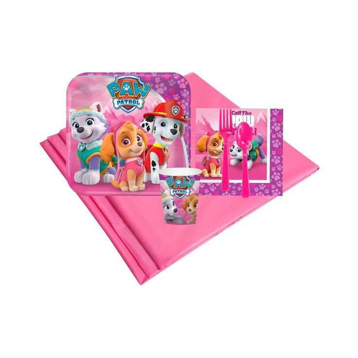 Pink Paw Patrol 8 Guest Party Pk,