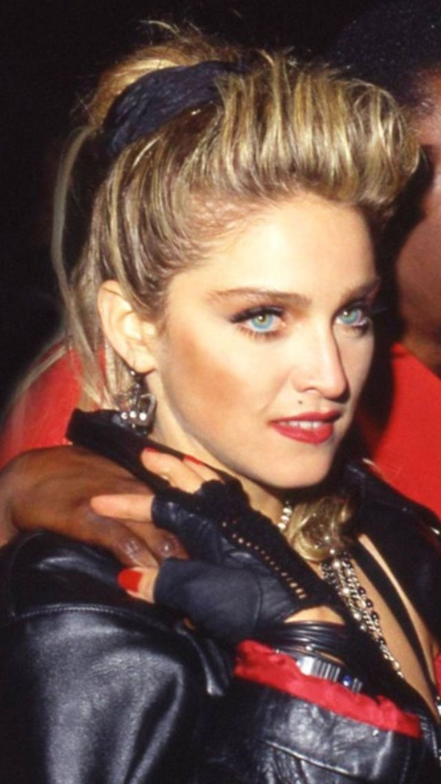 Madonna, around the time she was just becoming the most famous person in the world.