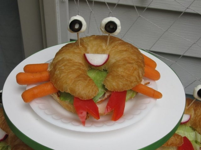 Crab sandwich :) This was a HUGE HIT!!!!!!!!!!