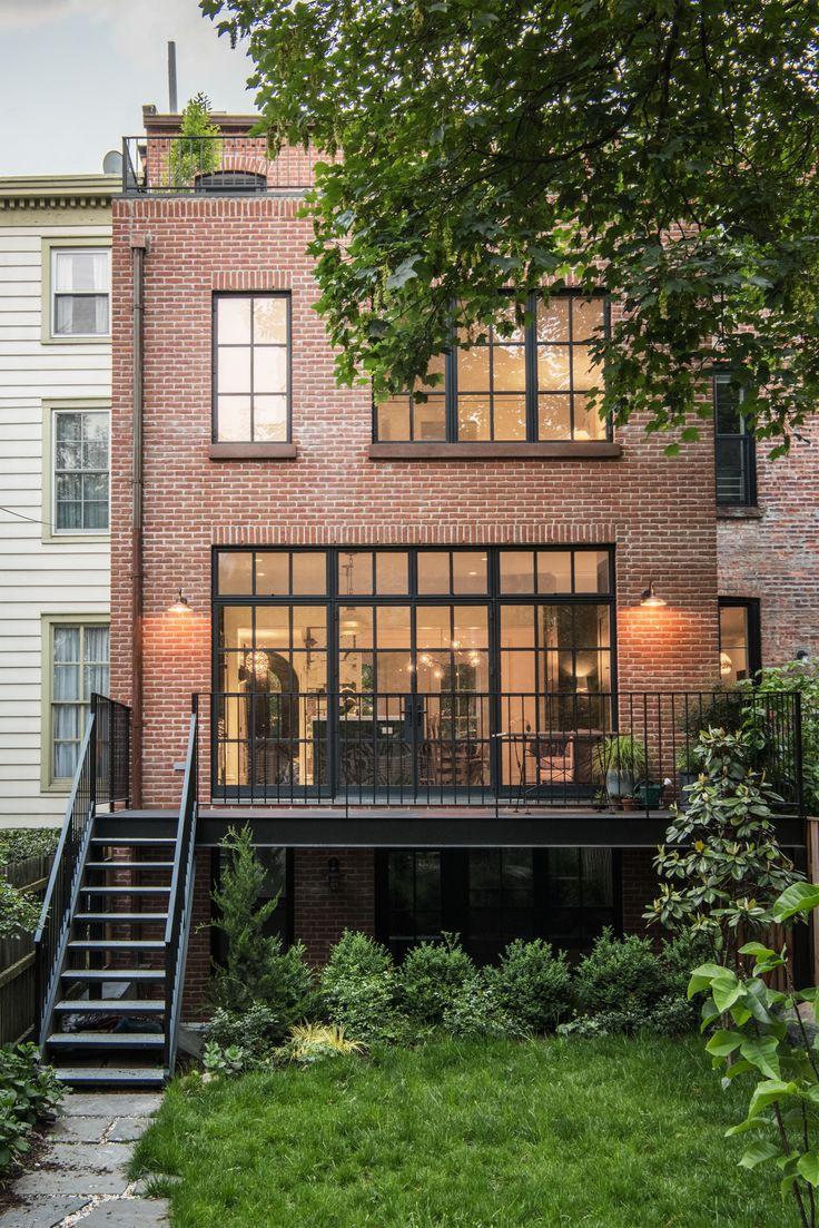 backyard-exterior-of-brooklyn-brick-brownstone-elizabeth-roberts-remodel