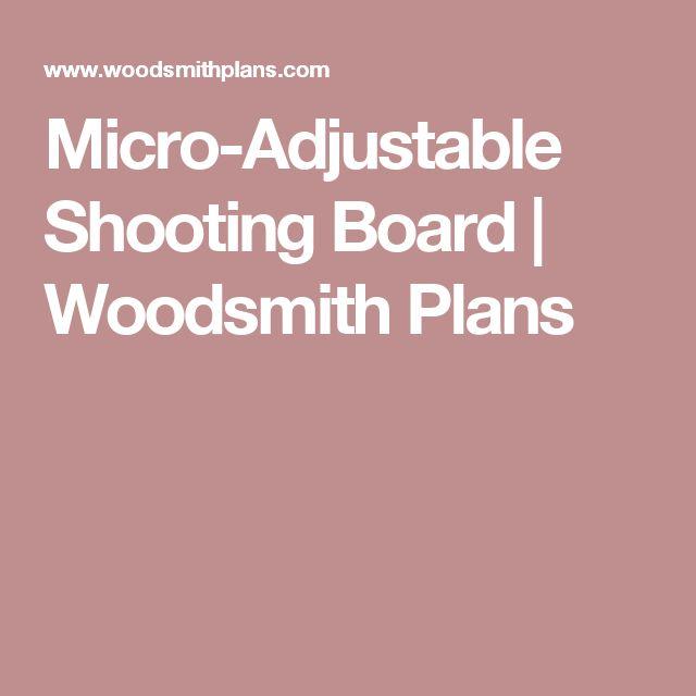Micro-Adjustable Shooting Board | Woodsmith Plans