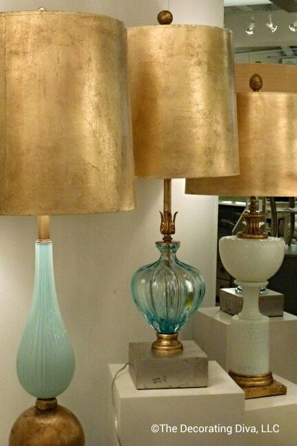 Light Lust: Smitten by these divine bespoke lamps by Louise Gaskill. Spotted at High Point Market fall 2013. #HPMKT: Sprays Painting, Glasses Options, Hotels Lamps, High Point Marketing, Decor Ideas, Lights Lust, Fall 2013, Tables Lamps, Marketing Fall