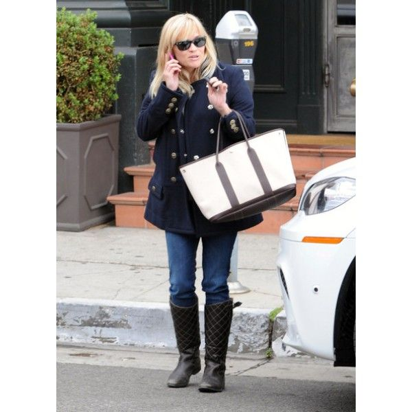 Reese Witherspoon \u0026amp; Hermes Grey Coated Canvas Garden Party XL Tote ...