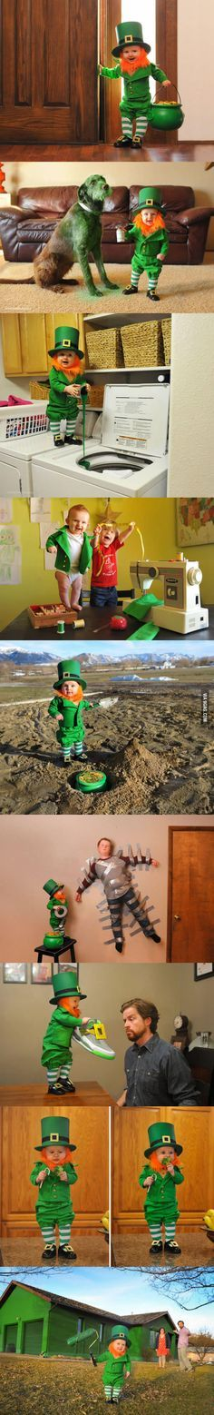Unique Leprechaun Ideas On Pinterest DIY Projects For St - Dad turns his 6 month old son into real life leprechaun for st patricks day
